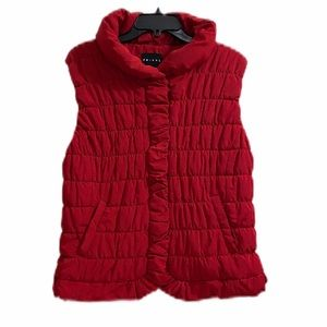 Tribal Red Women's Puff Vest Size Large